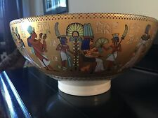 Kaiser Gold Porcelain W. Germany King Tut Centerpiece Bowl Limited Edition