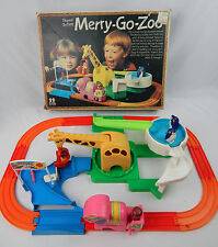 1978 Tomy Merry-go-Zoo Train Set w/ Box Complete & Working (loud motor)