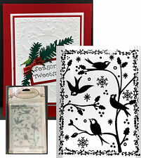 Embossing Folders FRAMED BIRDS & BRANCHES embossing folder ULT CRAFTS Christmas