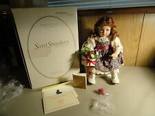 "1993 ANN TIMMERMAN ""SWEET STRAWBERRY"" DOLL W/ CHAIR & BASKET BOX & COA"