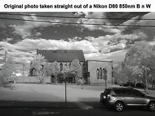 Nikon D80 10.2 IR Infrared body camera converted Deep Black n White 850nm