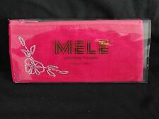 Mele & Co Travel Jewellery Purse Pink Fabric - New