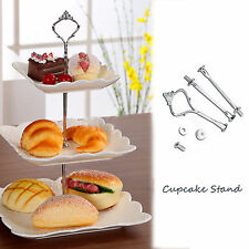 Crown 3 Tier Steel Round Cupcake Stand Wedding Birthday Cake Display Tower