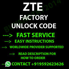 Unlock Code for ZTE V829 Fast Service FACTORY Unlock Code