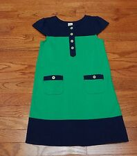 Gymboree girls colorblock dress sz 8 Navy/green