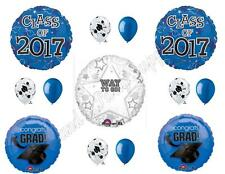BLUE CLASS OF 2017 Graduation Party Balloons Decoration Supplies PERSONALIZE!