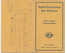 Relif  Panorama des Rheines  Kleine Farbige Tashenausgabe  ca. 17  x  110 cm