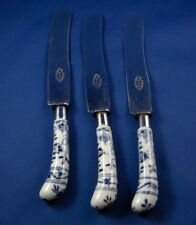 Antique Meissen Porcelain Blue Onion Knife Handle Porzellan Messer Zwiebelmuster