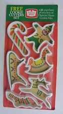 Vintage Duncan Hines Christmas Cookie Cutters Set of 6 Factory Sealed Holidays