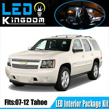 14 PCS 07-12 For Chevy Tahoe Pickup Interior LED Light Package Kit Combo White
