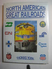 North America's Greatest Railroads Hardcover Book w/Jacket Model Train RR