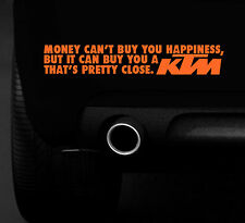 KTM HAPPINESS FUNNY  STICKER  MX - ENDURO -RACE BIKE CAR VAN 4X4 BUMPER STICKER