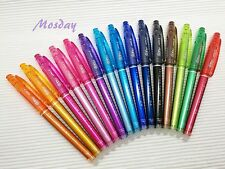 (Choose 5 Pens) 15 Colors Pilot Frixion Needle Tip Erasable 0.4mm Rollerball Pen