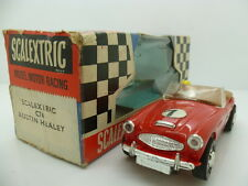 Scalextric C74 Austin Healey, deep red colour, boxed