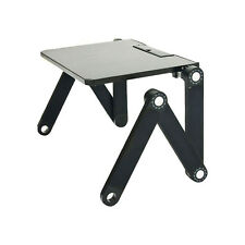 Adjustable Foldable Laptop Tablet Ipad Desk Table Stand Bed Couch Tray BLACK
