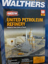 Walthers HO #933-3705 United Petroleum Refining -- Kit - 13-1/2 x 8-1/4 x 15""