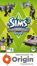 THE SIMS 3 HIGH END LOFT STUFF PACK PC AND MAC ORIGIN KEY
