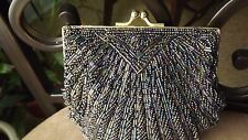 "Beaded/Sequin Dress/Evening Clutch/Handbag, Navy 5""T x 5.25W"