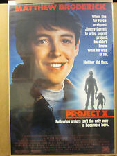 vintage Mathew Broderick project X 1987 movie poster 10035