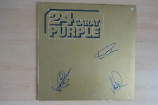 "Deep Purple Autogramme signed LP-Cover Vinyl ""24 Carat Purple"""