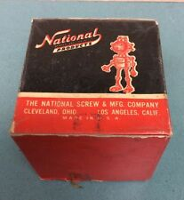 VTG Nat The Robot Mascot Bolts Box National Screw & Mfg. Co. 1950s Nuts & Bolts