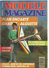 MODELE MAG N°460 PLAN : L'ALOUETTE AVION ELECTRIQUE DE CONSTRUCTION ULTRA LEGERE