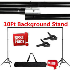 10Ft Adjustable Background Support Stand Photo Backdrop Crossbar Photograph