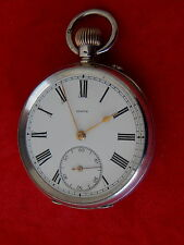 ZENITH VINTAGE SILVER POCKET WATCH, CLEANED AND OVER HAULED 925 SILVER