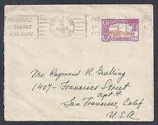 1938 Guadeloupe Single Franked Cover - Pointe A Pitre to California - Paquebot??
