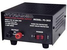 New Pyramid PS3KX 2.5 Amp Constant Heavy Duty Regulated AC/DC Power Supply