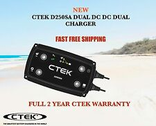 CTEK D250SA DUAL DC DC SOLAR BATTERY CHARGER AND WIRING KIT REAR FITTED  BATTERY