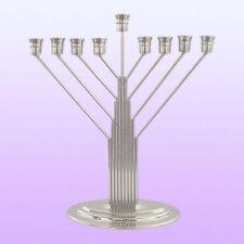Metal MENORAH....... Chabad Lubavitch style jewish chanukah judaica hanukka gift