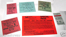 6 THE BEATLES Tickets Rock n Roll Concert 60s Retro Music Liverpool Antique Old