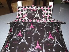 American Girl Ispired Doll Grace,Paris Design Eiffel Tower  Bunk bed Bedding