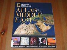 National Geographic Atlas of the Middle East 2003 SC Syria Qatar Yemen Bahrain