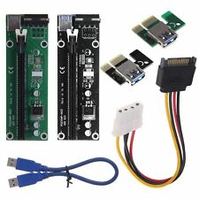 New PCI-E Express 1x To 16x Extender Riser Card Adapter & USB 3.0 Power Cable