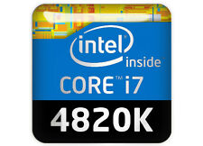 "Intel Core i7 4820K 1""x1"" Chrome Domed Case Badge / Sticker Logo"
