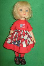 """AMERICAN FLAG DRESS - Made to fit 10"""" ANN ESTELLE DOLL-4TH of JULY"""
