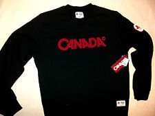 Original Vancouver 2010 Winter Olympic New Black CANADA Sweat shirt Mens Large