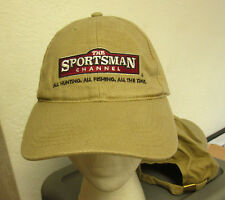 SPORTSMAN CHANNEL logo baseball hat hunting fishing cable TV channel cap sewn