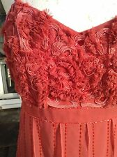 TEATRO EVENING DRESS~CORAL CORNELLI TRIM~SLASH PANEL SKIRT~RRP £95~BMWT~SIZE 10~