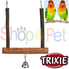 TRIXIE Natural Living Swinging Trapeze with Bell BUDGIE, CANARY or SMALL BIRDS,