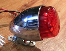 feu phare arriere moto piece  bobber chopper custom motor taillight chrome texas