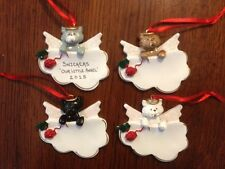 Personalized Cat Angel on Cloud Christmas Ornament