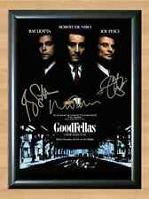 Gangster HENRY HILL GOODFELLAS Signed Autographed A4 Poster Print Photo De Niro