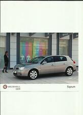 "VAUXHALL SIGNUM PRESS PHOTO ""BROCHURE RELATED"" 5 OF"
