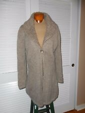 "LONG CARDIGAN SWEATER~SZ-L~ITALY~OPEN FRONT~37"" LONG/THICK & SOFT"