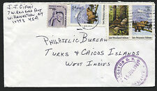 TURKS and CAICOS: (10887) USA missent Jamaica cancel/cover