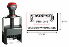 Shiny H6106 Custom Date Stamp RECEIVED & your business name-BLACK INK SU-36283