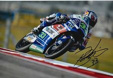 Enea Bastianini Hand Signed 12x8 Photo Gresini Honda Moto3 2016 MOTOGP 4.